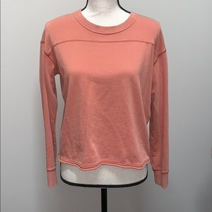 Distressed crop sweatshirt